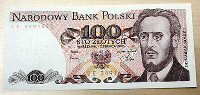 1982 Poland 100 Zlotych P-143d Unc. Up to 8 Consecutive Numbers