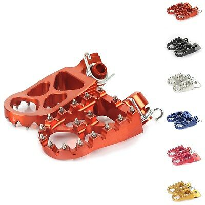 CNC KTM Foot pegs Footrests WIDE Fit EXC XC SX SXF 125-530 640 660 690 950 990