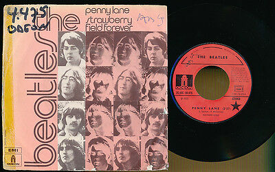 """The Beatles 45T 7"""" France Penny Lane"""