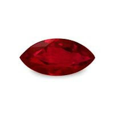 Lab Created Synthetic Hydrothermal Ruby AAA Marquise Loose Stone (4x2mm-16x8mm)