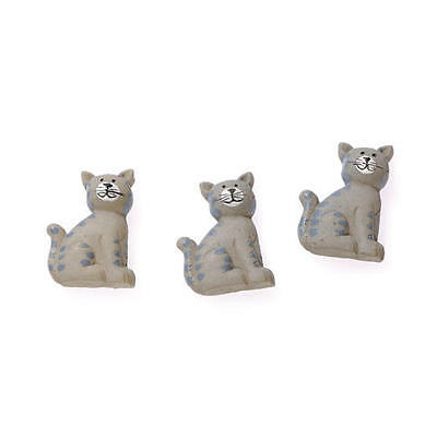 Knorr Prandell Resin Flatback Decorations - 6pcs Cats #610