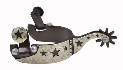 HKM Western Spurs With Wheels -Star- Made Of Stainless Steel - Adolescent/Kids