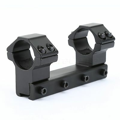 """One Piece High Profile Flat Top Dual 25.4mm 1"""" Ring Mount For 11mm Dovetail Rail"""