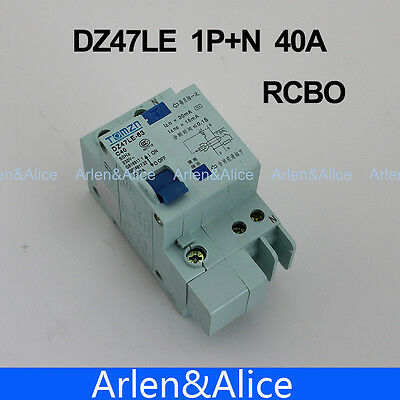 DZ47LE 1P+N 40A C type 230V~ 50HZ/60HZ Residual current Circuit breaker RCBO