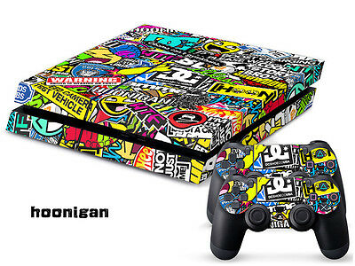 HOOLIGAN COOL 0106 DECAL SKIN PROTECTIVE STICKER for SONY/PS4 CONSOLE CONTROLLER