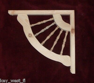 "Victorian Wood Gingerbread ~ 13"" Spindle ~ Fan Trim Bracket #5 ~ by PLD"