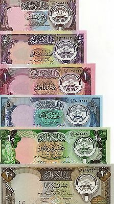 KUWAIT Middle east Set of 6 pcs all UNC  1/4-20 Dinar p-11,12,13,14,15,16