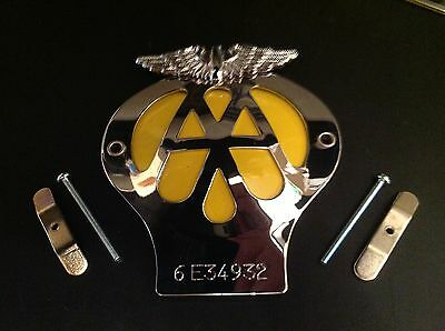 Classic Aa Car Badge Serial Number 6E 2046 In Great Condition As Per Photo
