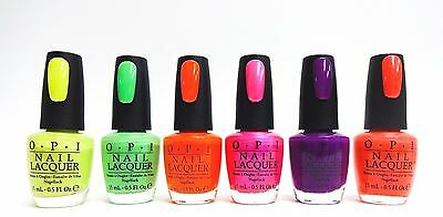 OPI NAIL POLISH Neon Collection Colors of your choice .5oz/15mL ...