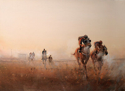 Canvas Print Oil painting Picture Impression Horse racing on canvas L681