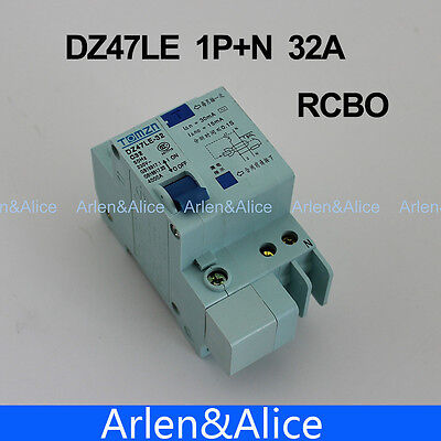 DZ47LE 1P+N 32A 230V~ 50HZ/60HZ Residual current Circuit breaker RCBO