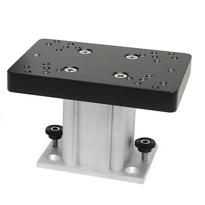 "Cannon Aluminum Fixed Base Downrigger Pedestal Mount 4"" inch for Surface/Track"