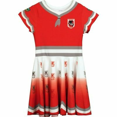 St George Illawarra Dragons NRL Girls Loliboli Dress 'Select Size' 2-8 BNWT6