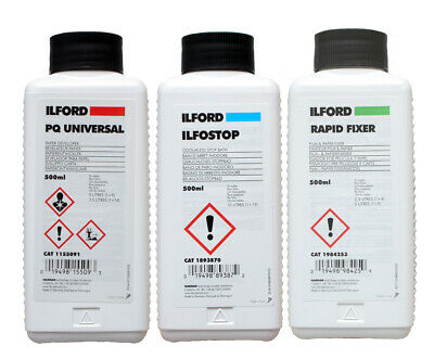 Ilford Black and White Paper Processing Chemical Kit