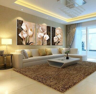 Home Decor Art Painting Orchid  Flower Modern Picture Oil Canvas Wall No Frame