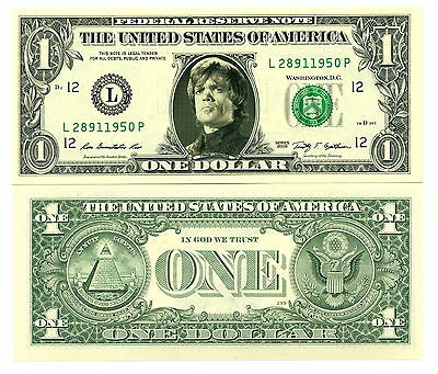 GAME OF THRONES TYRION LANNISTER VRAI BILLET DOLLAR US ! Collector Série Fantasy