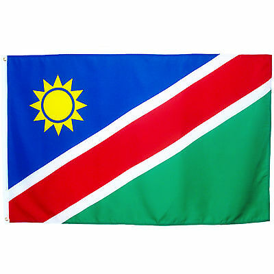 Fahne Namibia Querformat 90 x 150 cm namibische Hiss Flagge Nationallflagge