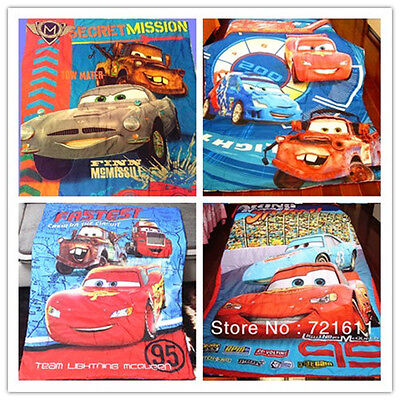 Brand New Cute Cars Lightning Mcqueen Comforter/Quilt for Cot and Toddler Bed