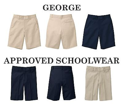NEW George ASW Boys' Flat Front Shorts, School Uniform, Choose Brand/Size/Color