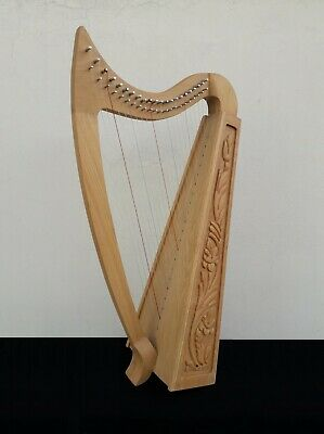 Gevon | 22 Strings Rosewood Celtic Irish Harp, Carry bag & Book | Vogga H7