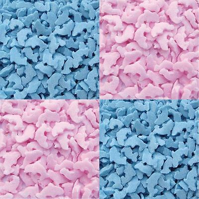 Edible Cupcake Cake Sprinkles Confetti Dolphins Shapes - Pink / Blue