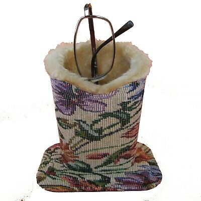 Tapestry Design Plush Eyeglass Stand Holder with Cleaning Cloth.