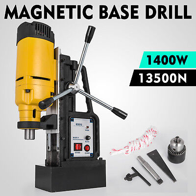 NEW 240v Commercial Magnetic Drill Electric Electro-Mag Base Chuck Power NEW