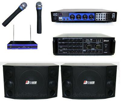 KARAOKE PLAYER DJ MUSIC SPEAKERS PACKAGE, mixer, amplifier, system, machine