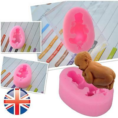 *UK Seller* Silicone 3D Sleeping Baby Mould Soap Chocolate Cake Topper Fondant