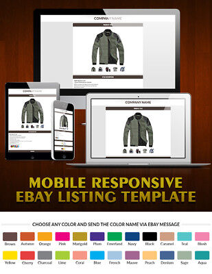 Mobile Responsive eBay Auction Templates, Mobile Compatible Html Templates