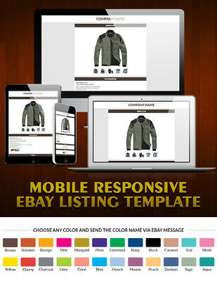 eBay Template Mobile Responsive eBay 2018 Policy Compliant - Same Day Delivery