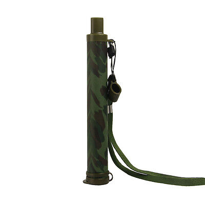 Camping Safe Water Purifier Filter Survival Ultra-Light Straw 99.99999%
