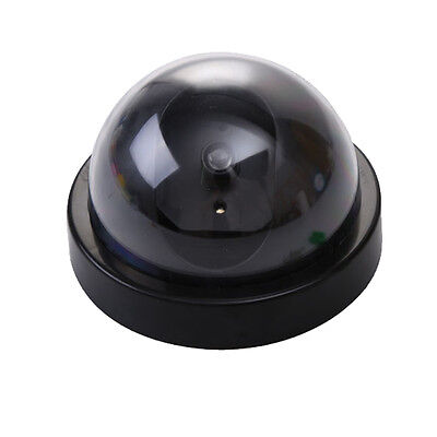 Dummy Fake Surveillance CCTV Security Dome Camera w/ Flashing Red LED Light