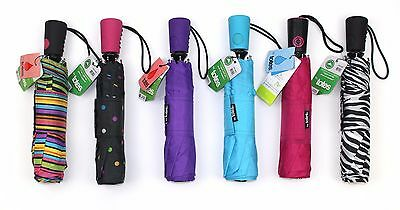 Totes Auto Open Mini/Compact Umbrella Assorted New Style-Handle Print (Life War)