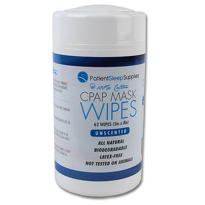 Patient Sleep Supplies CPAP Mask Wipes (Unscented)