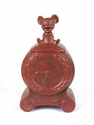 Vtg 1968 McCoy Cookie Jar Time For Cookies Mouse on Clock