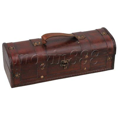 Exquisite and Beautiful Retro Wooden Vintage Wine Gift Storage Box  Case Holder