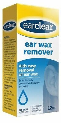 DJP NEW Ear Clear Ear Wax Remover 12mL