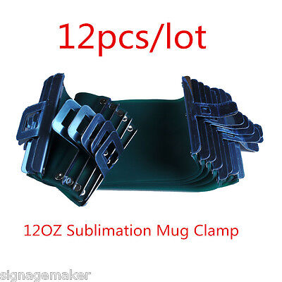 12pcs Sublimation Silicone Mug Wrap Cup Clamps for 12OZ Conical Mugs