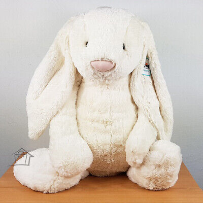 NEW Jellycat REALLY BIG 73cm Bashful Cream Bunny Plush Toy Rabbit Biggest Avail