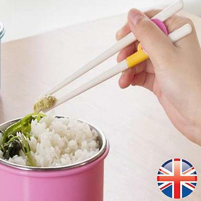 *UK Seller* Children Kids Training Learning Plastic Chopsticks Easy Fun