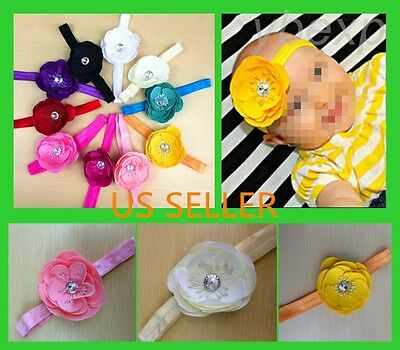 Wholesale 10pcs Hot Toddler Baby Girl Flower Headband Accessories