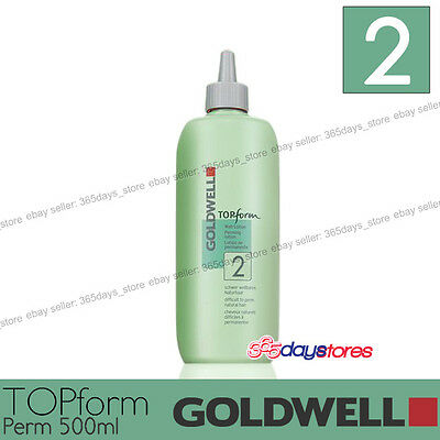 "Goldwell Topform Permanent Lotion 500ml ""Type 2"" For porous, colored hair"