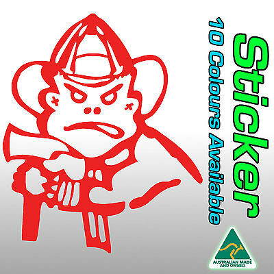 Bad boy fire fighter sticker for firefighters