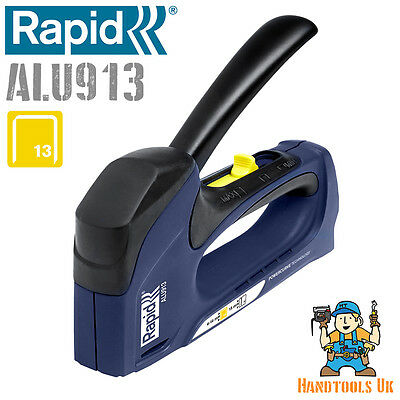 Rapid ALU913 Power Curve Combination Tacker (R13, R23, R33 Stapler / Staple Gun)