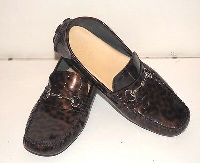 2d210968f4d COLE HAAN Women s Shelby Bit 2 Loafer Shoes LEOPARD Black Brown Leather  Size 6