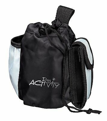 Trixie Black & Grey Dog Activity Treat Bag with 3 Pockets & Belt Loop 3238