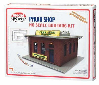 MODEL POWER HO SCALE BUILDING KIT - PAWN SHOP - New 201