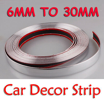 Self Adhesive Car Styling Moulding Strip Chrome Trim 10 Size Avaliable 3M to 15M