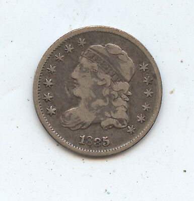 1835 Bust 1/2 Dime (#3484). Nice Original VF. Carefully Check out the Photos.